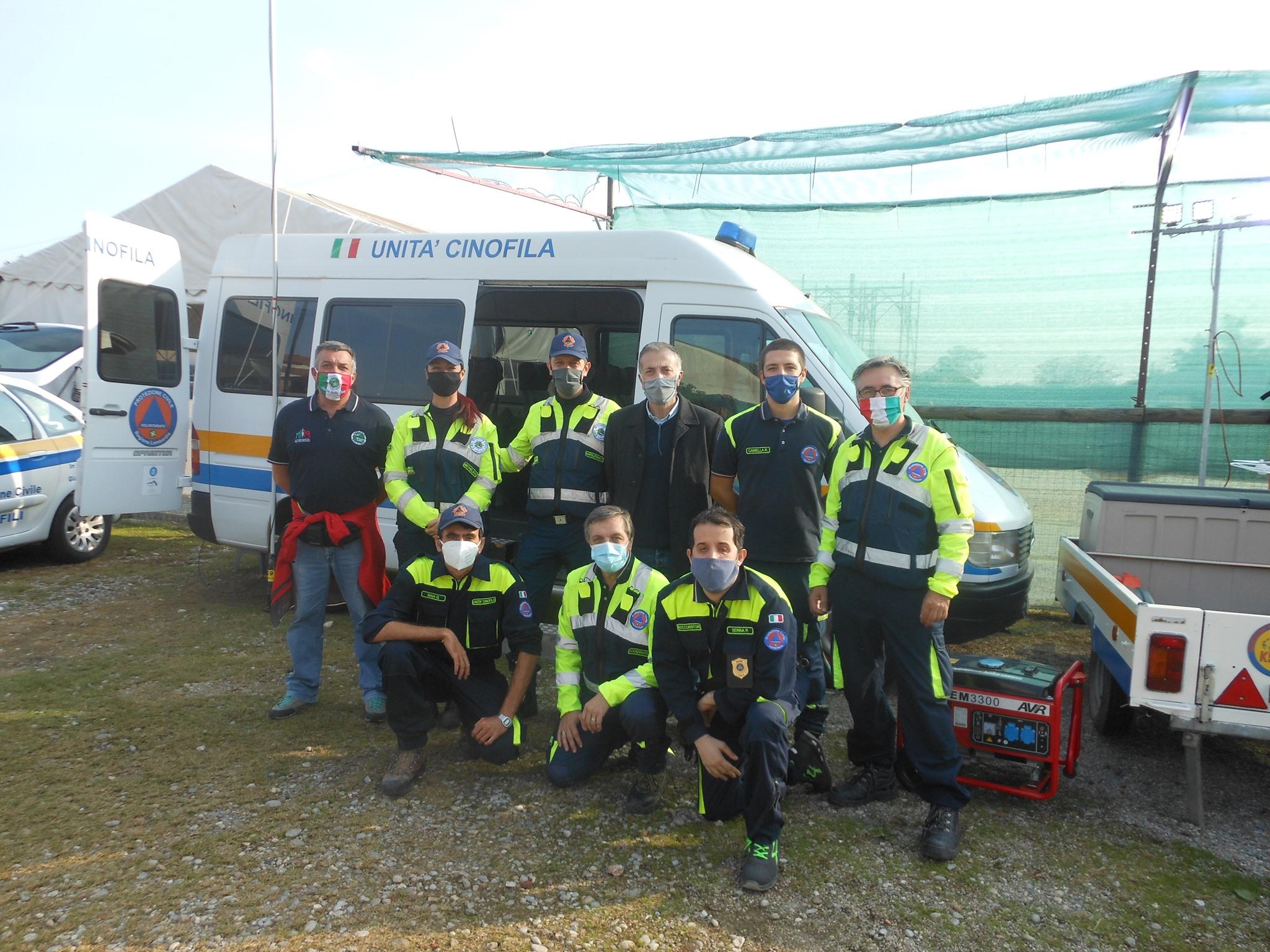 cormano protezione civile unità cinofila